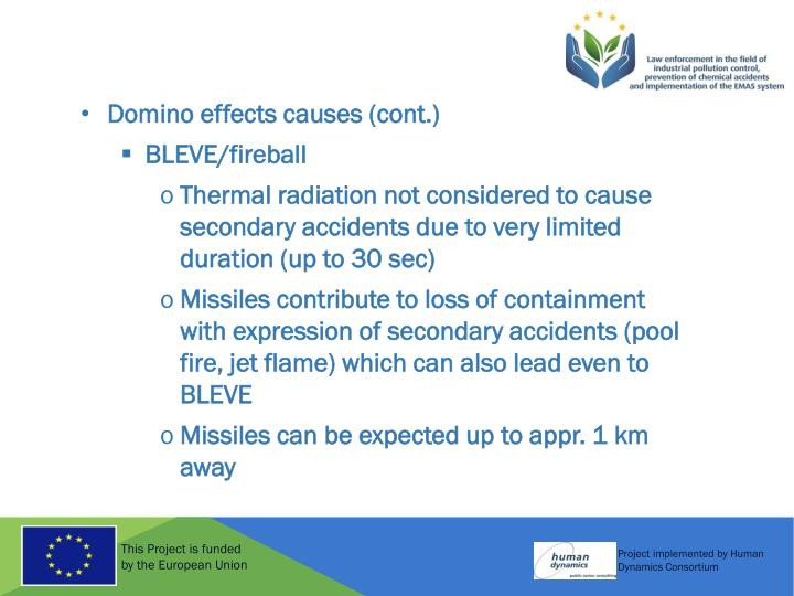 Domino effects causes (cont.)