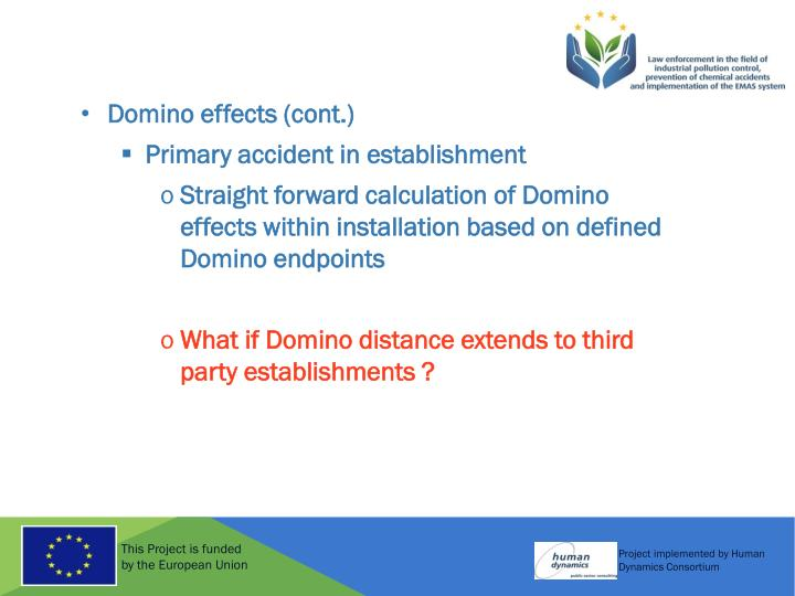 Domino effects (cont.)