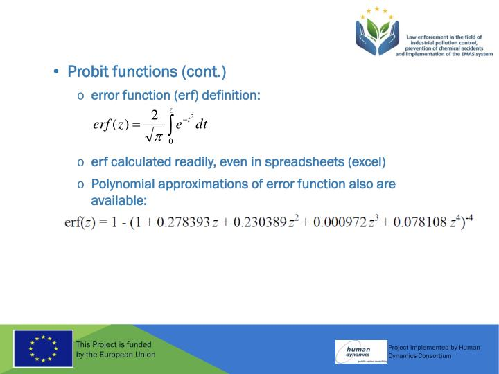 Probit functions (cont.)