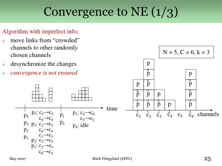 Convergence to NE (1/3)