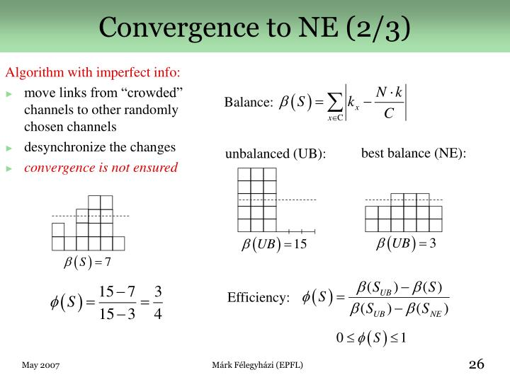 Convergence to NE (2/3)