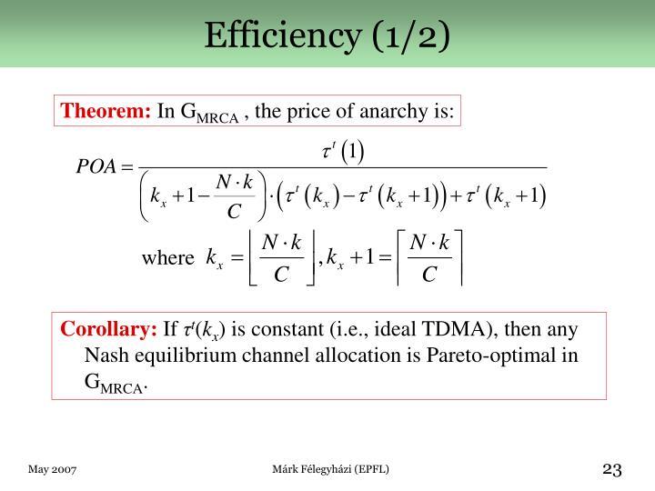 Efficiency (1/2)