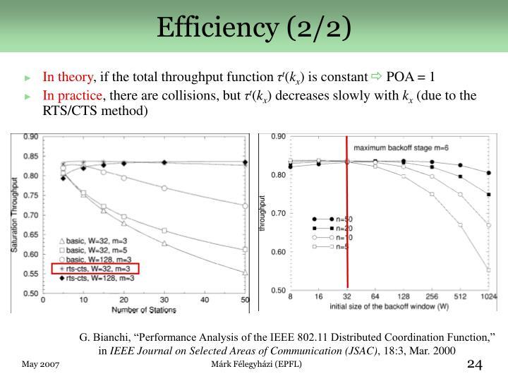 Efficiency (2/2)