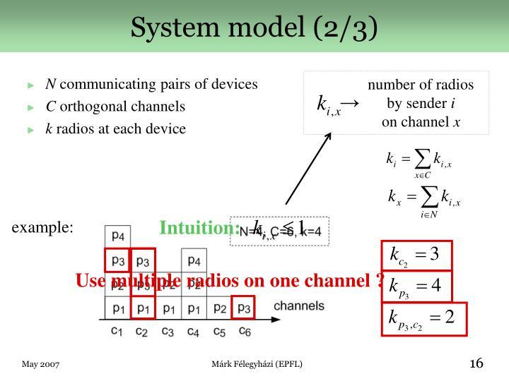 System model (2/3)