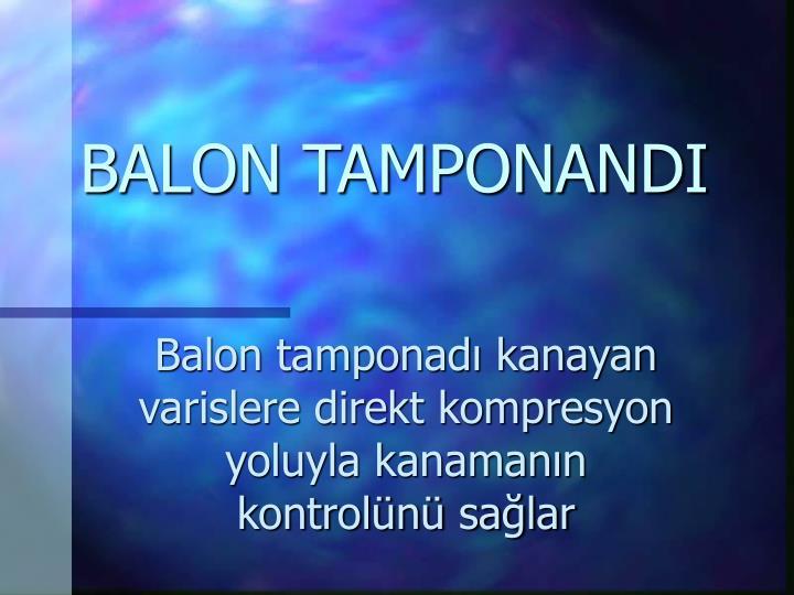 BALON TAMPONANDI