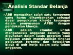 analisis standar belanja