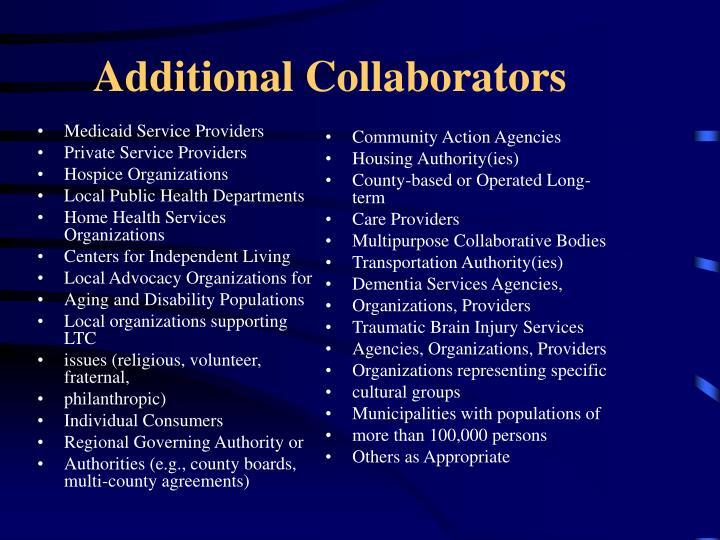Medicaid Service Providers