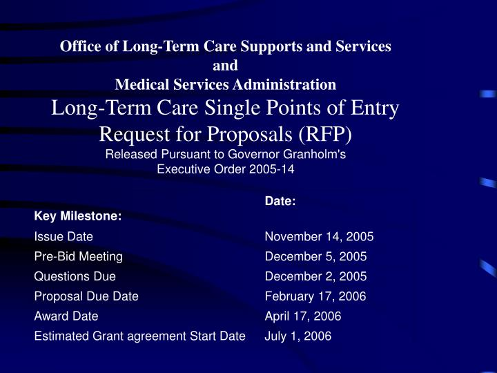 Office of Long-Term Care Supports and Services