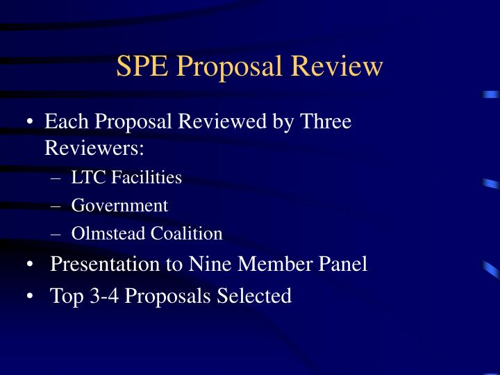 SPE Proposal Review