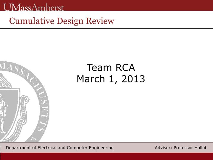 Cumulative Design Review