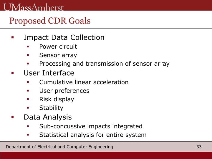 Proposed CDR Goals