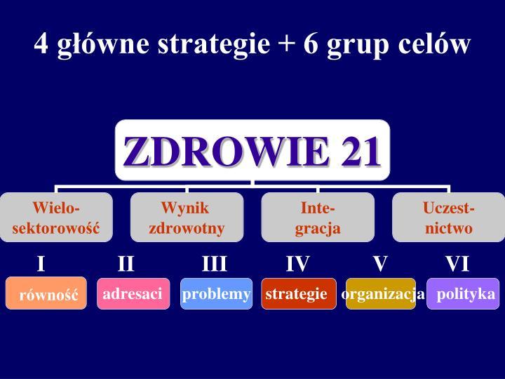 4 główne strategie + 6 grup celów