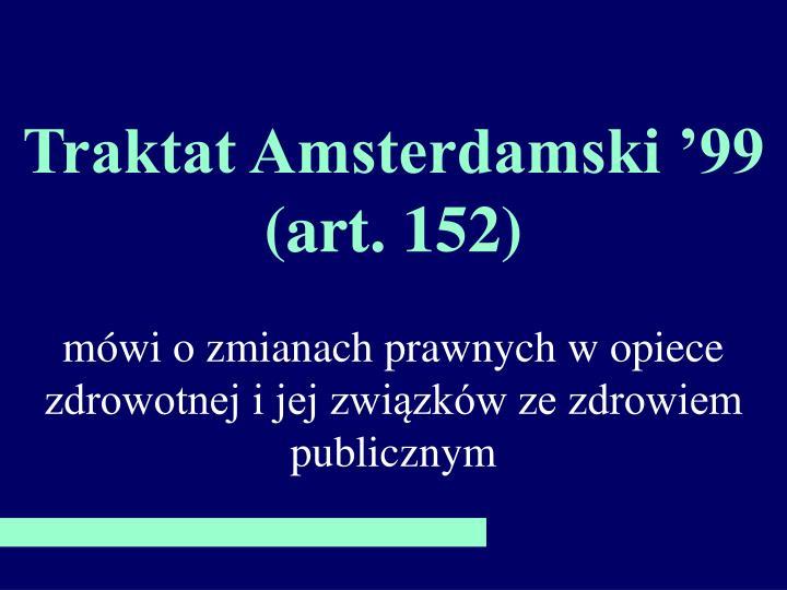 Traktat Amsterdamski '99