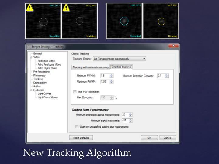 New Tracking Algorithm