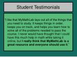 student testimonials1