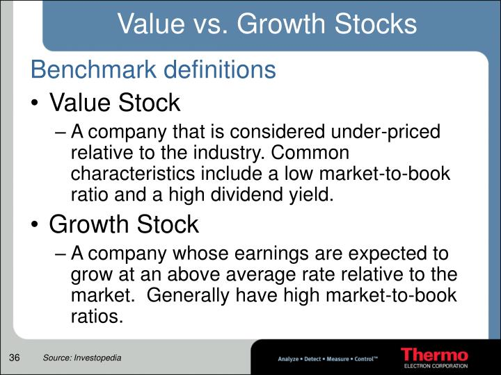 Value vs. Growth Stocks