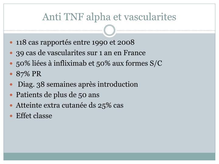 Anti TNF alpha et vascularites