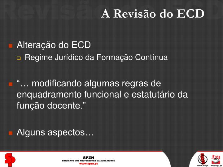 A revis o do ecd