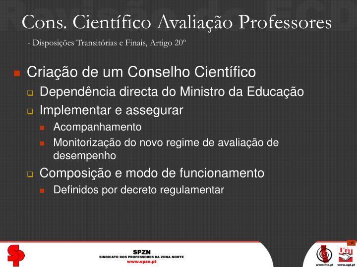 Cons. Científico Avaliação Professores