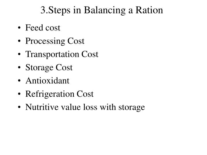 3.Steps in Balancing a Ration
