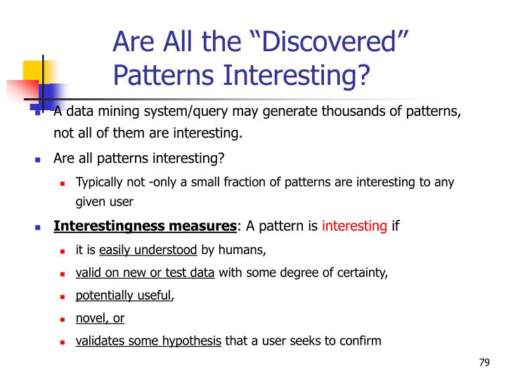 "Are All the ""Discovered"" Patterns Interesting?"