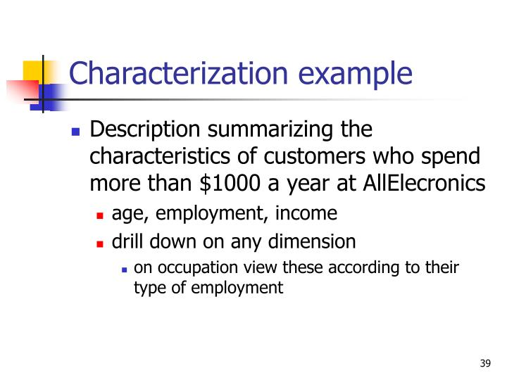 Characterization example