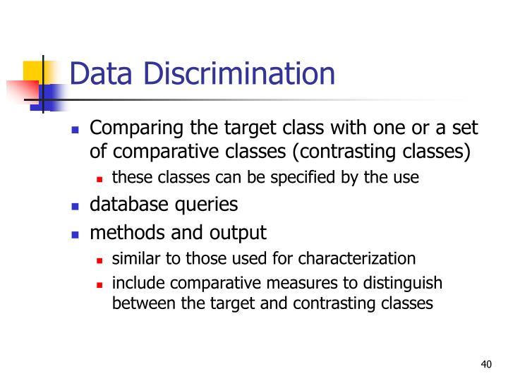 Data Discrimination