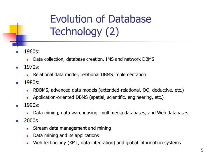 Evolution of Database Technology (2)
