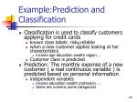 example prediction and classification