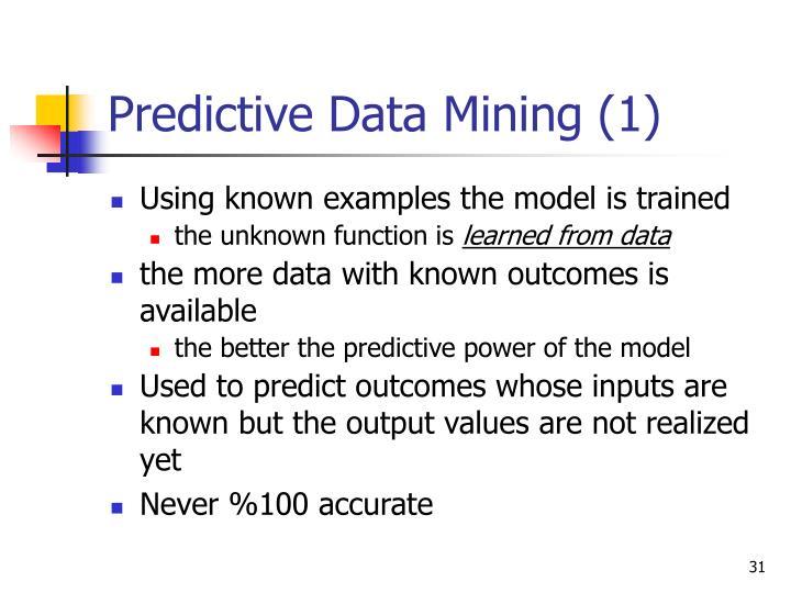 Predictive Data Mining (1)