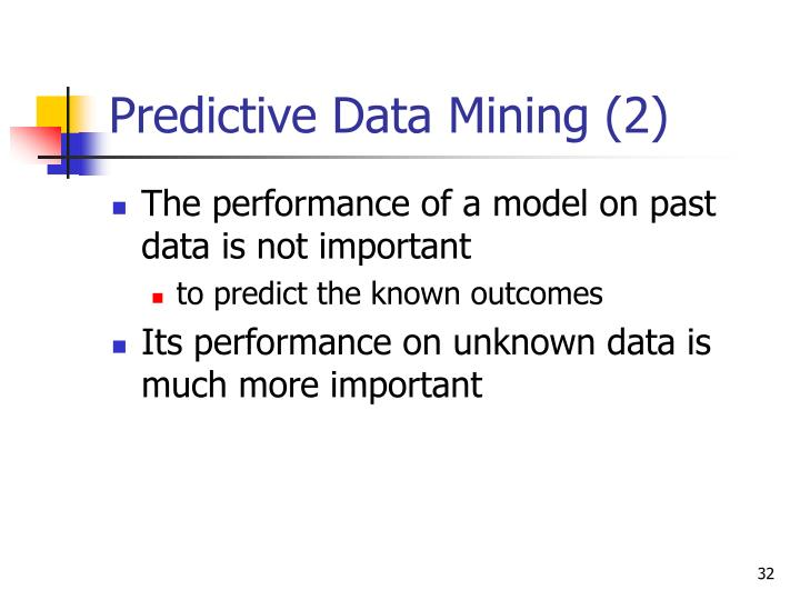 Predictive Data Mining (2)