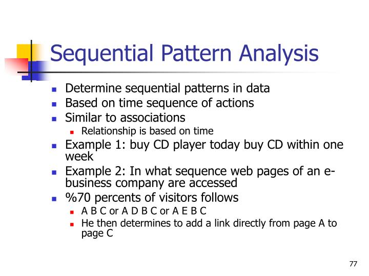 Sequential Pattern Analysis