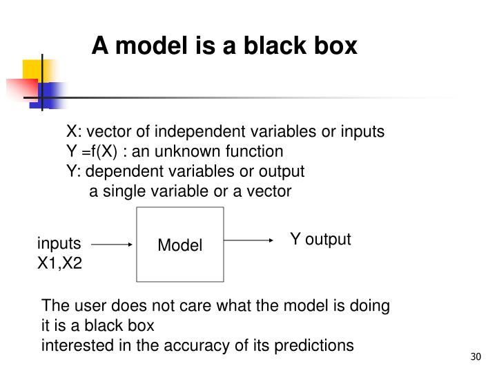 A model is a black box