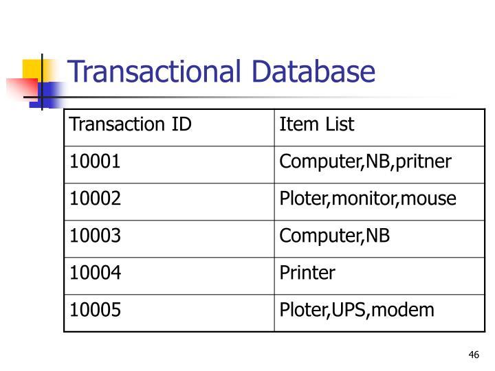 Transactional Database