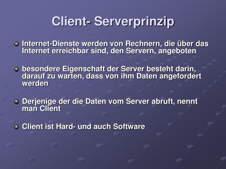 Client- Serverprinzip