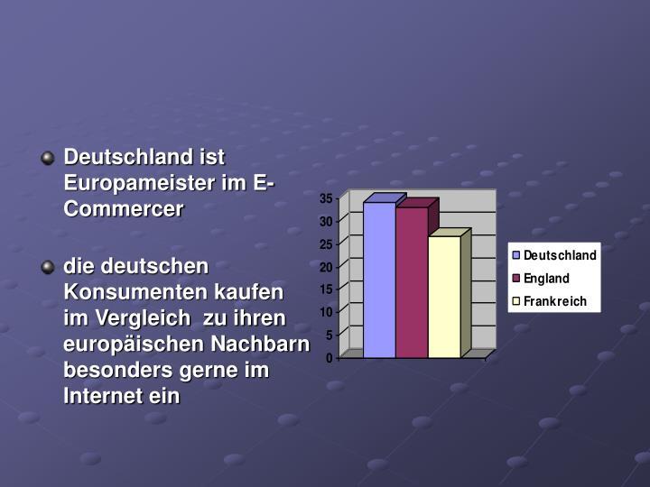 Deutschland ist Europameister im E-Commercer