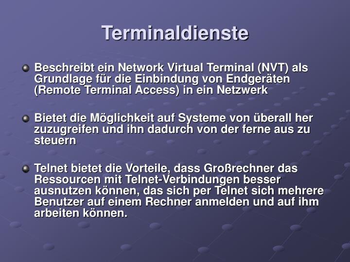 Terminaldienste