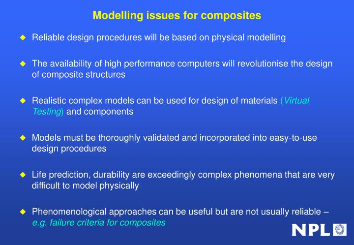 Modelling issues for composites