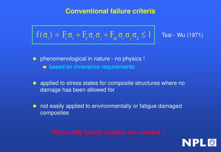 Conventional failure criteria