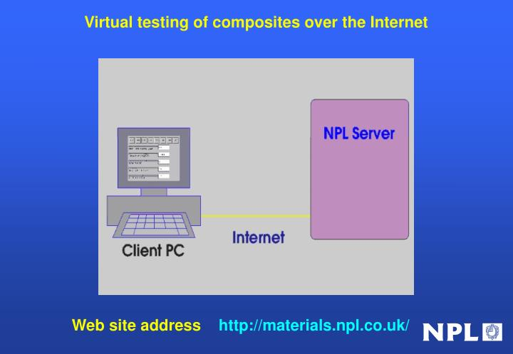Virtual testing of composites over the Internet