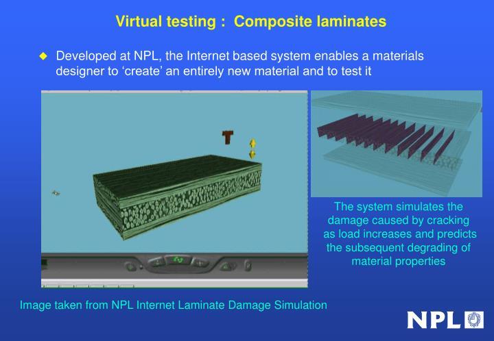 Virtual testing :  Composite laminates