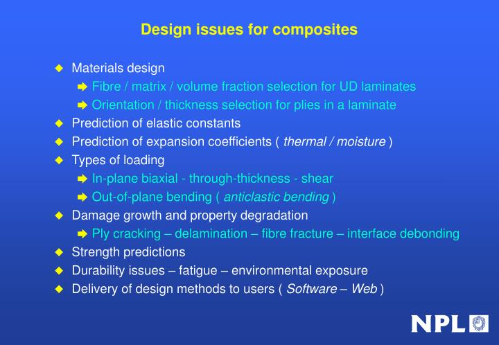Design issues for composites