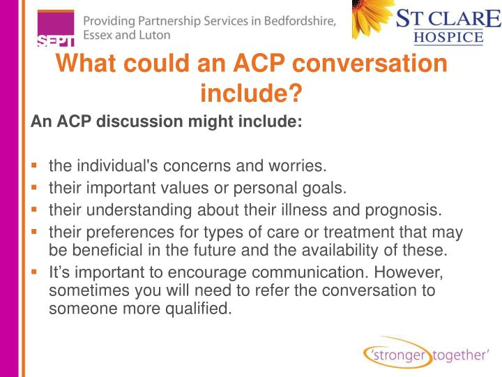 What could an ACP conversation include?