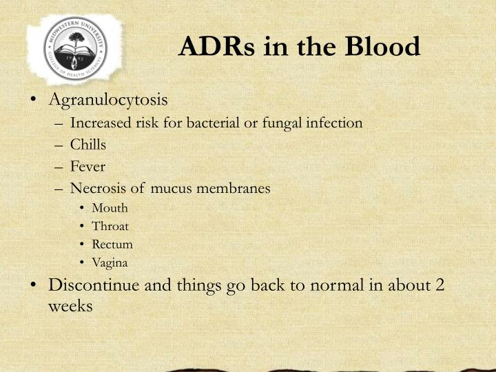 ADRs in the Blood