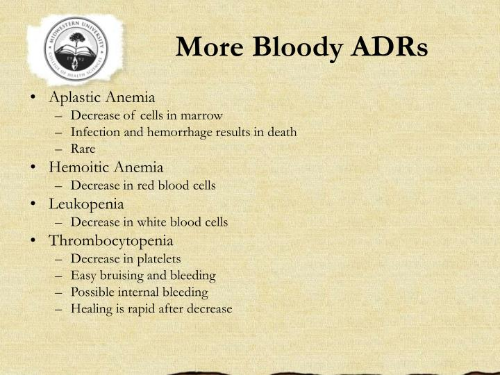 More Bloody ADRs
