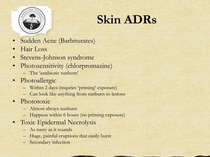 Skin ADRs