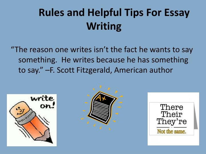 hints for writing a persuasive essay
