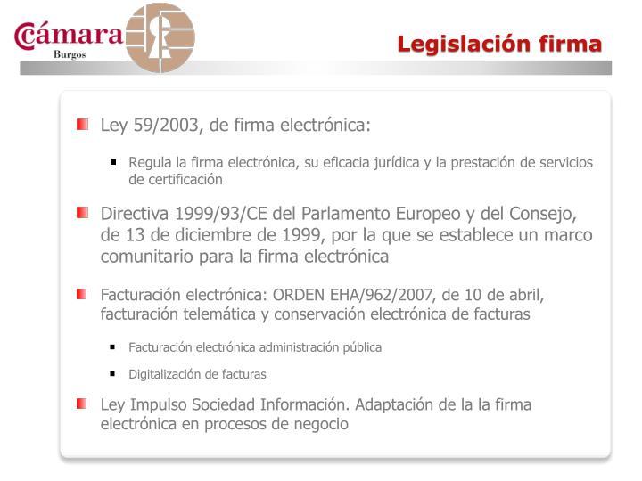 Legislación firma