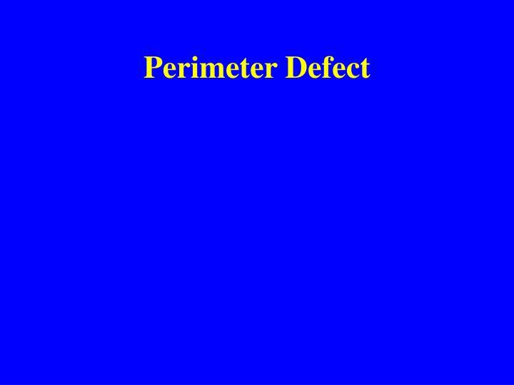 Perimeter Defect