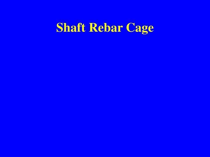 Shaft Rebar Cage